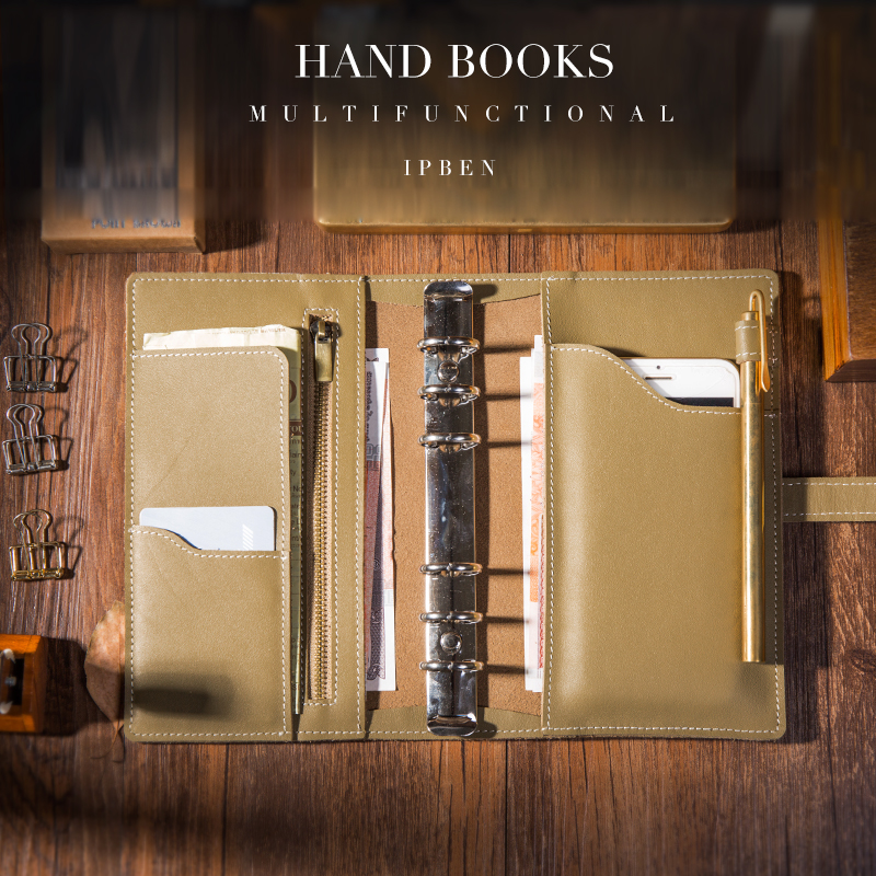 Carnet de voyage multifonctionnel en cuir véritable Design Journal Journal calendrier fait à la main cadeau carnet de croquis fournitures scolaires