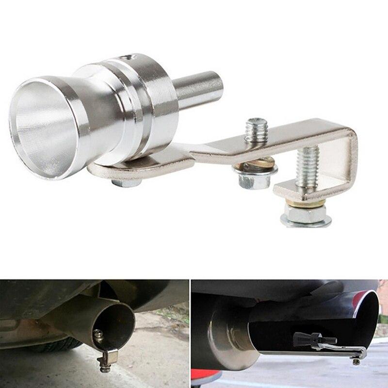 Silbato Turbo de coche plateado S ajuste Universal para todos los modelos de vehículo 19mm de diámetro accesorios de coche