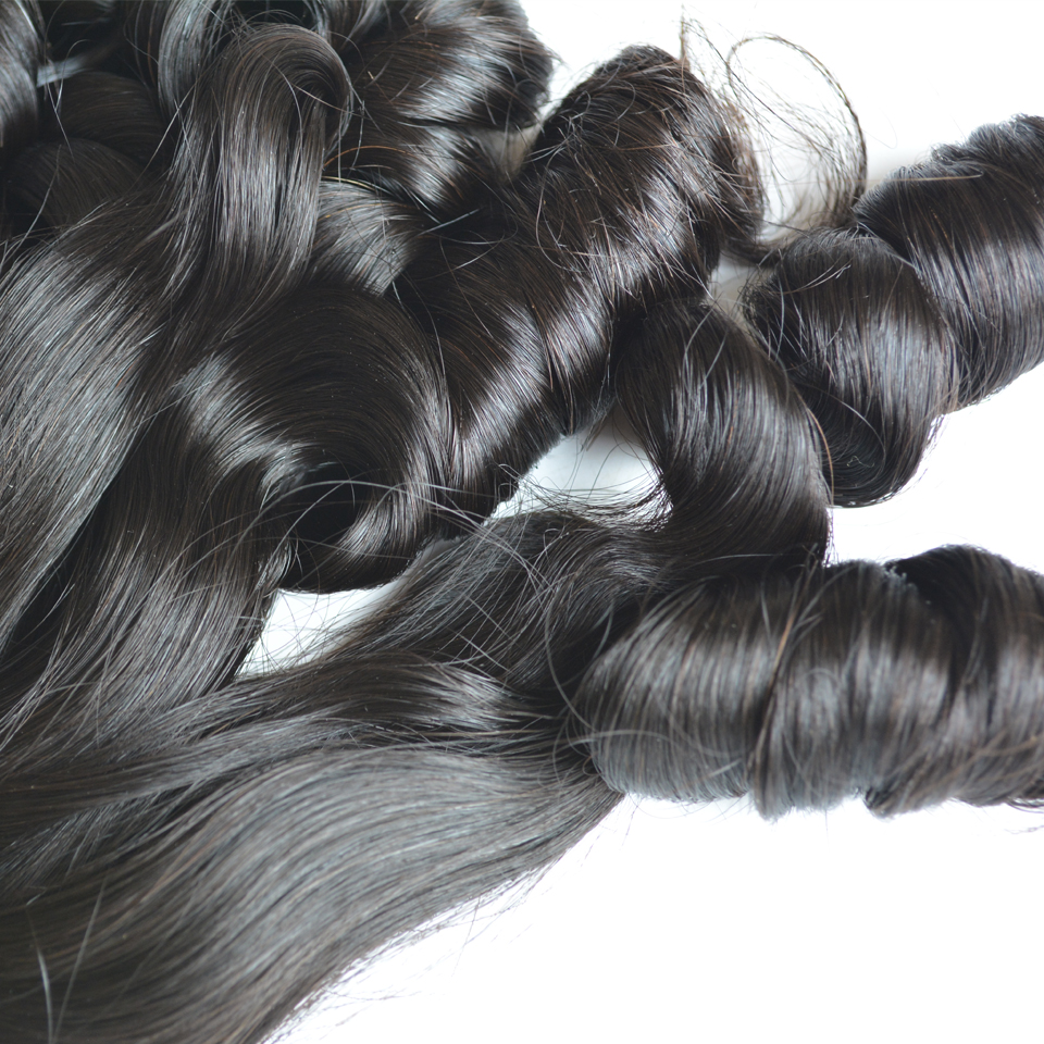 BAISI Hair Weave rebondissant Curly Remy Funmi extension de cheveux - Cheveux humains (noir) - Photo 4
