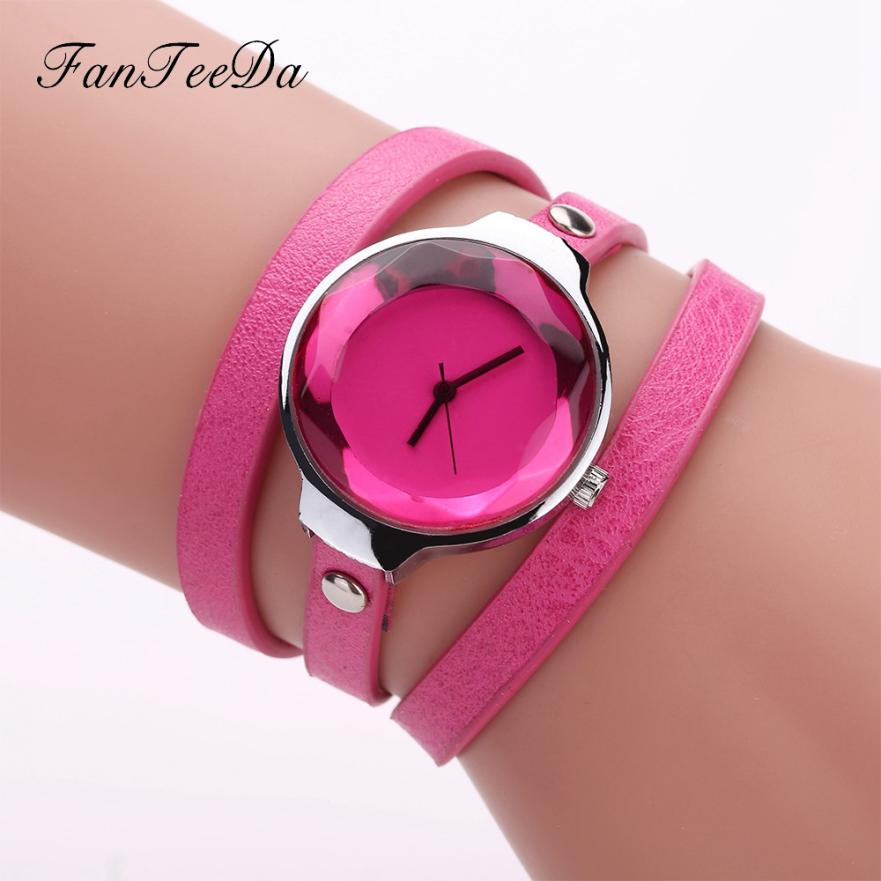 Women Fine Leather Band Winding Analog Quartz Movement Wrist Watch clock women red watch women bracelet women's watches цена