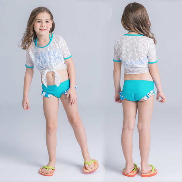 e9d12f1268 2018 Girl's Bikini junior girls swimsuit cute little fish swimming suit  infant Girl children Bathing Suit For Girls Swimwear