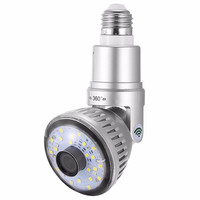 New WIFI Bulb IP Camera 1 3MP 360 Degree Panoramic H 264 Indoor Motion Detection Home