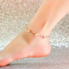 Высокое качество 18KGP розового золота титана стали птица циркон ножной браслет женщины мода ювелирный бренд бесплатная доставка ( GA049 )