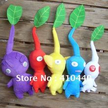 New 5PCS Nintendo Pikmin Plush Toy Yellow Red Blue Leaf Lovely Gift For Kids Free shipping