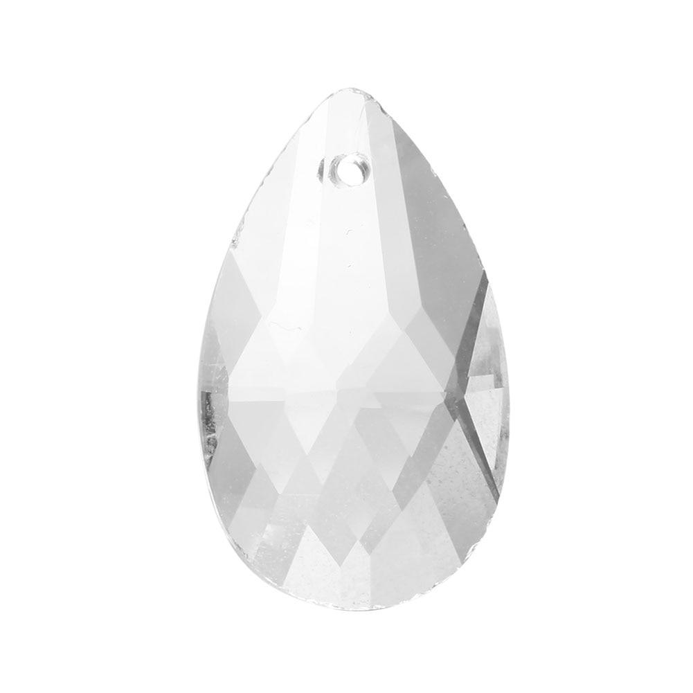 10 шт./упак. Clear искусства Стекло капли люстра подвесной светильник лампа часть висит призмы аксессуары для ручной работы с украшением в виде кристаллов кулон Запчасти
