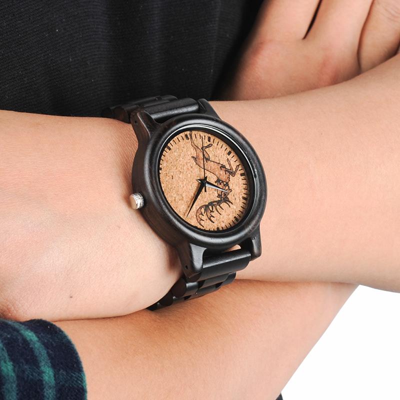 2017 New Arrival Fashion BOBO BIRD Watch Men Black Wood Wristwatches Wooden Strap Quartz Watch Gifts relogio feminino (22)