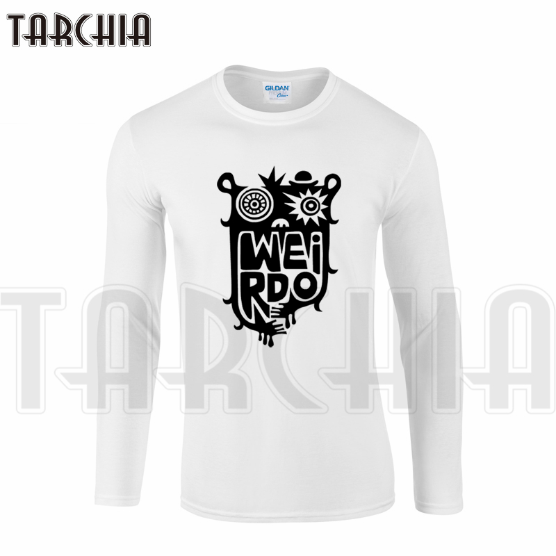 TARCHIA New Brand Arrived Free Shipping Graffiti Owl Funny Bird Men's Long Sleeve Homme T-Shirt Cotton Tee XXL Size Boy Cheap