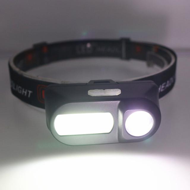 Outdoor camping Portable mini XPE+COB LED Headlamp