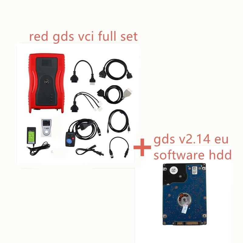 GDS VCI V2.14 OBD2 Scanner Interface pour Kia Hyundai Outil De Diagnostic de Programmation Module de Déclenchement Nord Américain et Euro Véhicules