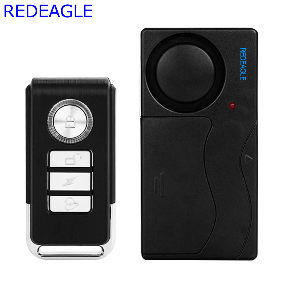 REDEAGLE Home Wireless Window Door Magnetic Vibration alarm Sensor Remote Control Entry Detector Anti-Theft For Home Security wireless remote control vibration security alarm independly door window detector black