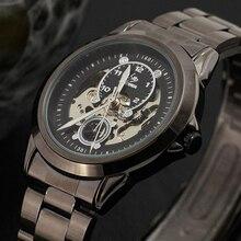 Class Titanium Design New Fashion Skeleton Mechanical Watch Men Luxury Brand SEWOR BRAND Wrist Watches Men Relogio Masculino