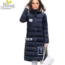 Plus Size M-XXXL Fashion Women's Winter Warmth Long Parkas Slim Warm Cotton Casual Hooded Jacket Overcoat 6 Colors Coats