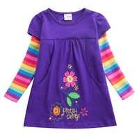 Платье с длинными рукавами для девочек; детское платье для девочек; платье принцессы для маленьких детей; vestidos; детская одежда; зимние плать...