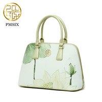 PMSIX бренд 2019 дизайнер Элитный бренд высокое качество разделение кожа Дамы Светло Зеленый модная сумка женская