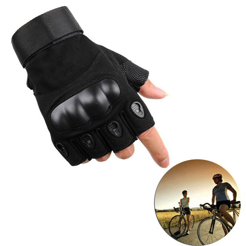 Outdoor Riding Knuckle Fingerless <font><b>Gloves</b></font> <font><b>Military</b></font> Army Shooting Paintball Hunting Cycling <font><b>Half</b></font> <font><b>Finger</b></font> Protective image