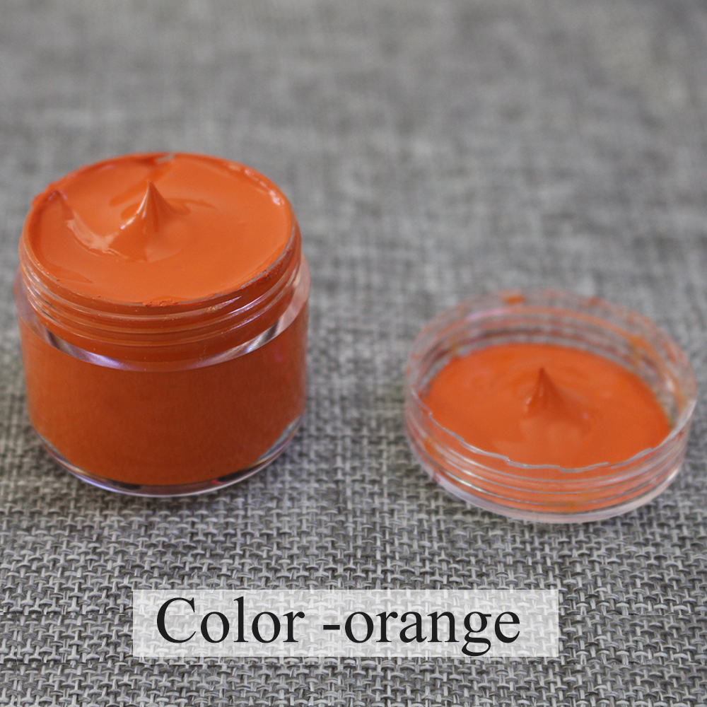 30ml Orange leather paint specially used for painting leather sofa, bags, shoes and clothes etc with good effect