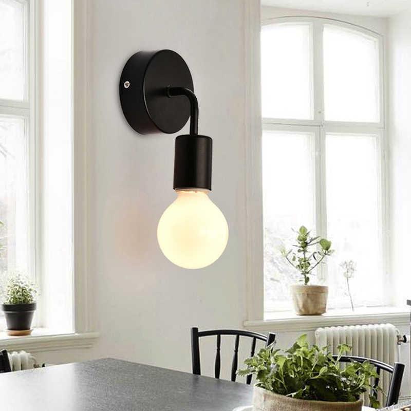 Modern Demir Duvar Lambaları E27 İskandinav basit şık Kapalı Başucu Lambası Duvara Monte Işıkları Aydınlatma Merdiven Yatak Odası Mutfak Ev