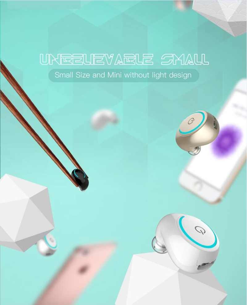 Mini Wireless In Ear Earpiece Bluetooth Earphone Cordless Hands Free Headphone Blutooth Stereo Auriculares Earbuds Headset Phone