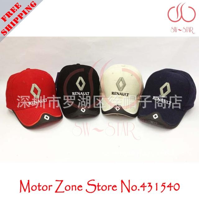 eb99225b4ec Free Shipping F1 Renault car sports racing Team hat sun visor fasion  Embroidery cotton caps model