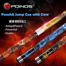 New POINOS Punch&Jump Cue with Case Break Stick 14mm 147cm Canadian Maple 5A+ Wood Billiard Jump Punch Kit 2019