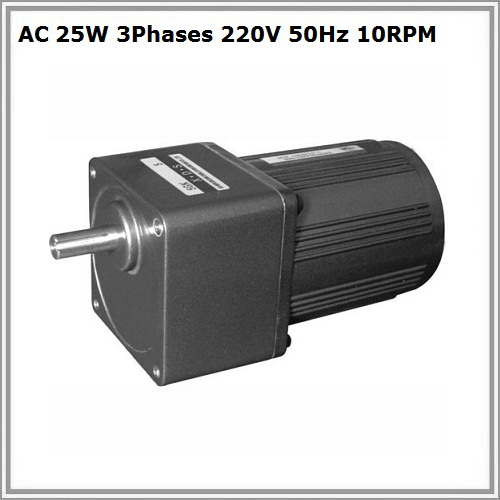 AC 25W 3 phases <font><b>220V</b></font> 50Hz <font><b>10rpm</b></font> gear <font><b>motor</b></font> image
