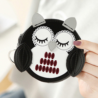Coin Purses Women Wallets Moneybags Female Girls Round Zippe Lovely Owl Purse Cards ID Bag Good