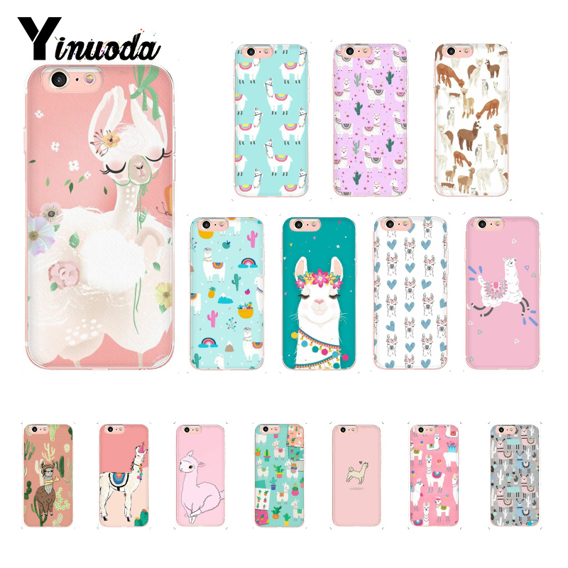 Phone Bags & Cases Yinuoda Cute Lamas Alpaca Animals Cartoon Novelty Fundas Phone Case For Iphone 8 7 6 6s Plus X Xs Max 5 5s Se Xr 10 Cases Agreeable To Taste Cellphones & Telecommunications