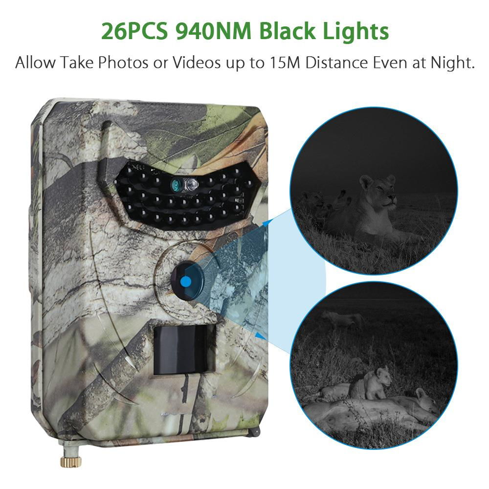 Forest cam Hidden Wireless hunting camera with 26pcs Black IR LED Wild Infrared camera for Thermal