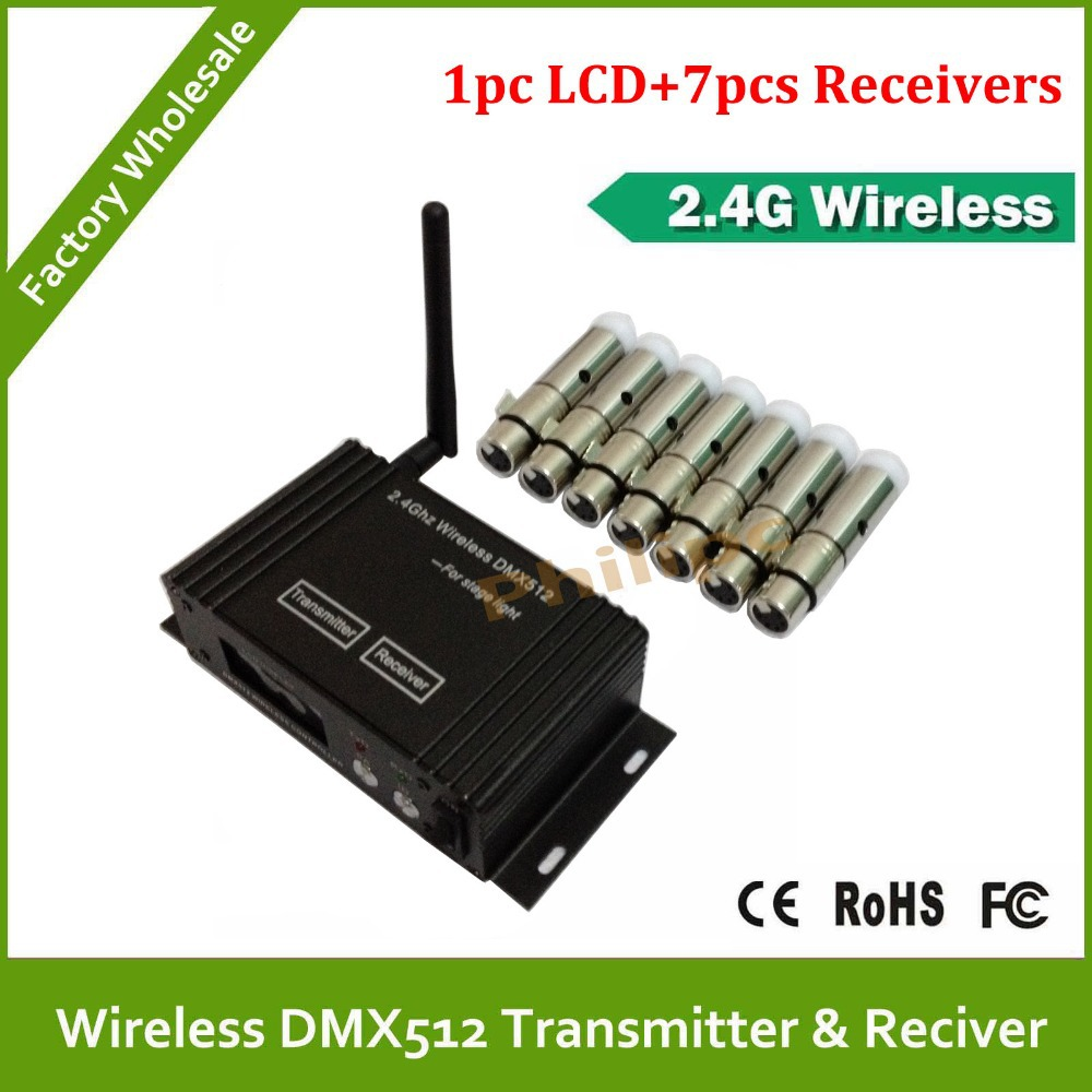 DHL Fast Free Shipping Wholesale 8 pcs/lot wireless DMX controller transmitter+receiver, Wireless ControllerDHL Fast Free Shipping Wholesale 8 pcs/lot wireless DMX controller transmitter+receiver, Wireless Controller
