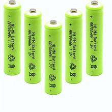 6/8/10pcs/Lot AAA 1.2V 700mAh NiMh Rechargeable Battery Ni-mh Batteries Battria FREE shipping