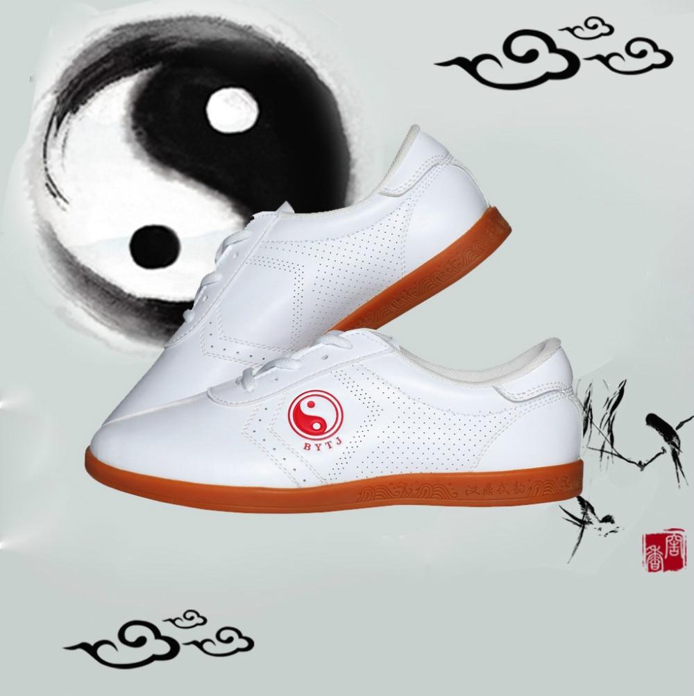 2016 Wholesale White PU Leather Taichi/Tai Chi Shoes Kung Fu Shoes Wing Chun TaiJi Slipper Martial Art Sneaker Taekwondo Shoes