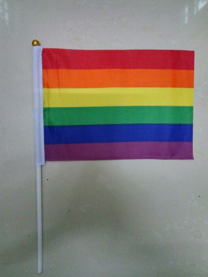 شحن مجاني xvggdg 500 قطعة/الوحدة rainbow lgbt العلم ناحية يلوحون المثليين موكب ليه حزب الرايات 14x21 سنتيمتر decotation-في الأعلام والشعارات والإكسسوارات من المنزل والحديقة على  مجموعة 1
