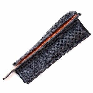 Image 4 - Pesno حقيقية حزام جلد العجل الجلد جلد حزام (استيك) ساعة أسود الرجال ووتش اكسسوارات مناسبة ل تاغ هوير موناكو