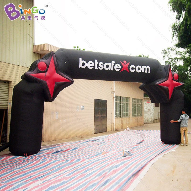 GREAT HANDWORK 8m height inflatable black archway air filled arch balloon customized for decoration outdoor advertising archesGREAT HANDWORK 8m height inflatable black archway air filled arch balloon customized for decoration outdoor advertising arches