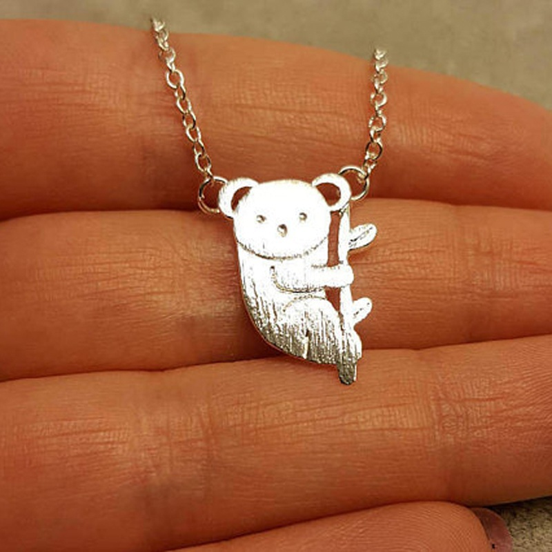 Origami Cute <font><b>Koala</b></font> Pedant Necklace <font><b>Koala</b></font> <font><b>Bear</b></font> Necklace Baby Lover Gifts <font><b>Jewelry</b></font> Accessories image