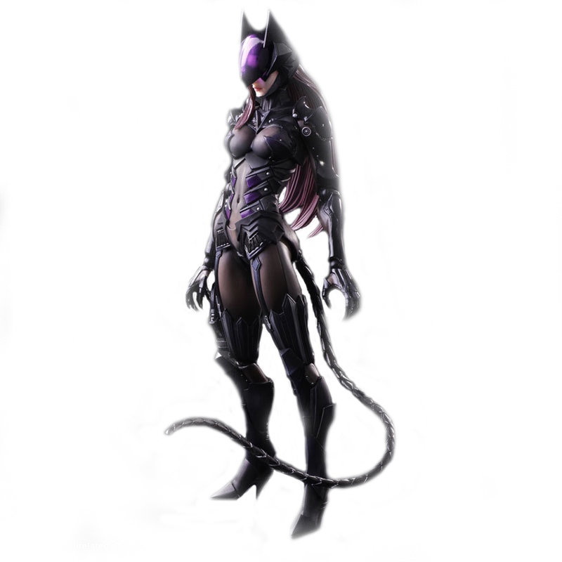 NEW MARVEL 27CM PlayArts PA DC Movie Superhero Batman Arts Kai Catwoman PVC Action Figure Collectible Model Toys Brinquedos playarts kai batman arkham knight batman blue limited ver superhero pvc action figure collectible model boy s favorite toy 28cm