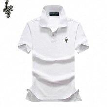 On sale pique cotton Summer brand horse mens short sleeve polos mens lapel shirts ralphmen tops 3 embroidery logo polos shirt L8