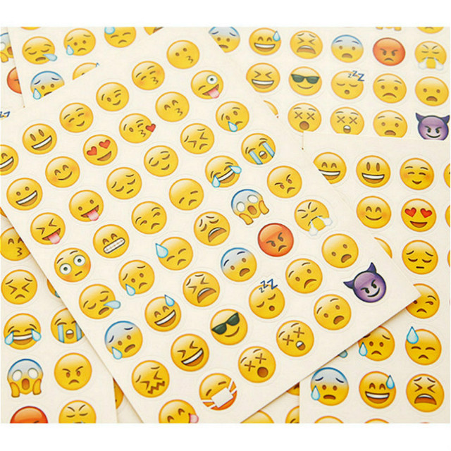 1 pcs ביטוי מצב רוח מדבקת יומן מתכנן צבעוני קשת לב כוכב קישוט יומן Scrapbook אלבום צעצועים לילדים