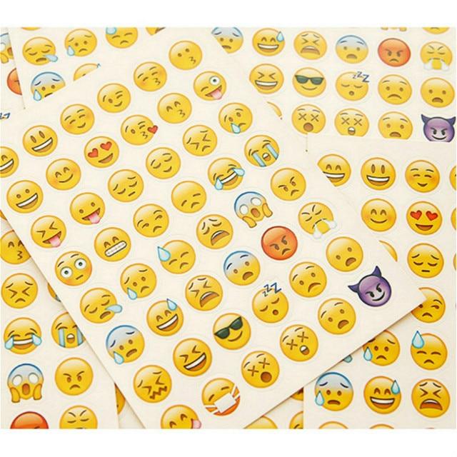 1 piezas expresión humor diario de etiqueta engomada planificador colorido Arco Iris corazón estrella decoración diario Scrapbook álbumes de foto juguetes para los niños