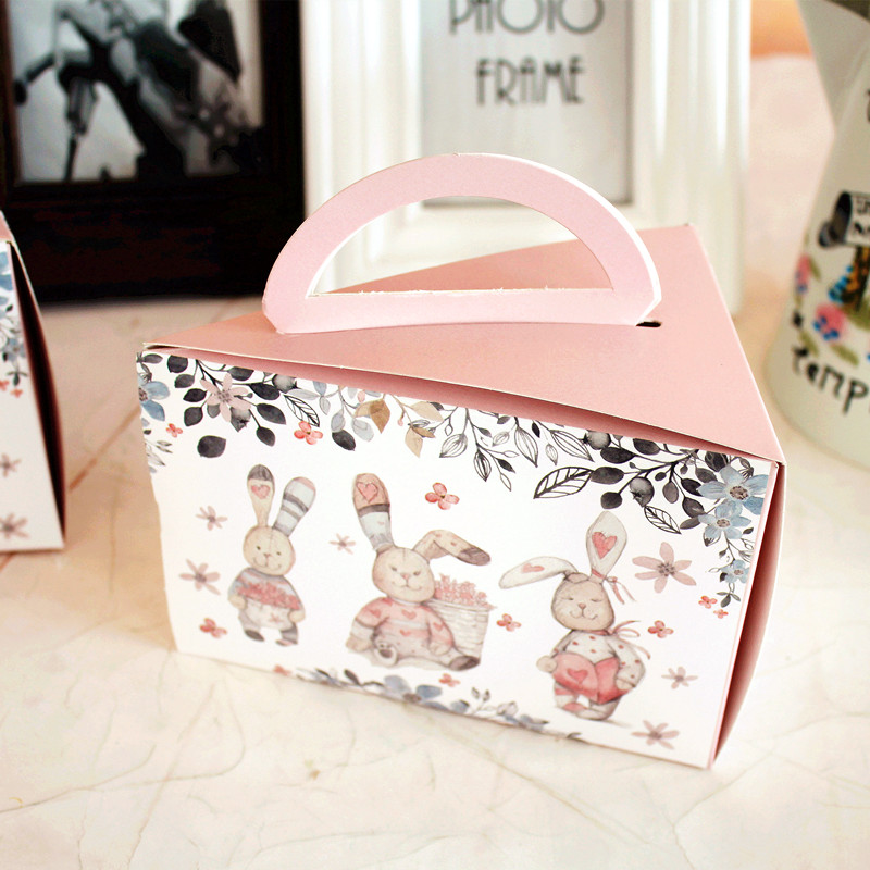 15*11*10cm 10 Pcs rabbit and friends Paper Box wedding candy cheese Storage Boxes Christmas Birthday Party Gifts Packaging
