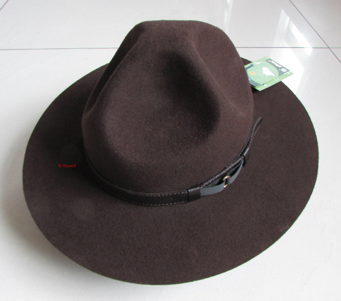 Men s Wool Fedoras Hat Male Individual Hat Three Hole Woolen Cap Australian Fedora Fashion Unisex