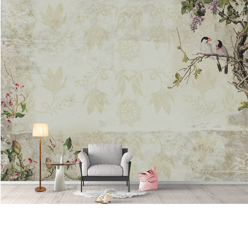Custom Photo 3D Wallpaper for Walls Chinese Painting Wall Papers Vintage Naturals Bird Tree Mural Living Room Home Decor Flowers custom photo wallpaper european style figure statue 3d embossed mural hotel living room backdrop mural wall papers 3d home decor