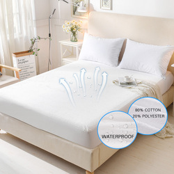 Terry Waterproof Mattress Cover Anti-mite Breathable Hypoallergenic Bed Protection Pad Mattress Protector 1 PC