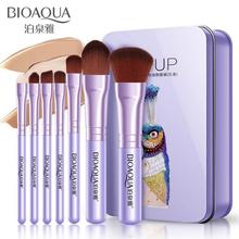 BIOAQUA питательные увлажняющие 7 шт./компл. Для женщин лица набор кистей для макияжа лица косметический Красота тени для век Румяна кисти для макияжа инструмент