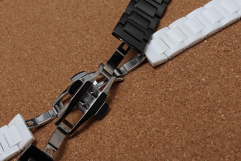 Keramik Armband Armbänder für Diamant Uhr Männer Frauen 14mm 16mm - Uhrenzubehör - Foto 3