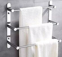 60cm Length 304 Stainless Steel Towel Ladder Modern Towel Rack / Towel Bars Bathroom Towel Rack 3 Layers Wall Mount Victor 22