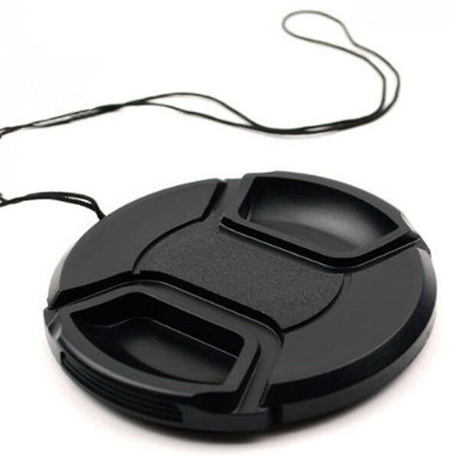 Foleto Lens Cap Cover Snap On Center Pinch Lens Protective 49 52 55 58 62 67 72 77 82mm for Canon Nikon Sony a Pentax 60D 500D 1