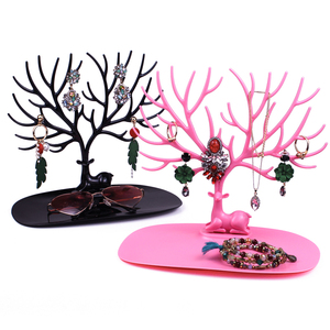 Deer Earrings Necklace Ring Pendant Bracelet Jewelry Display Stand Tray Tree Storage Racks Organizer Jewelry Shelf Holder(China)