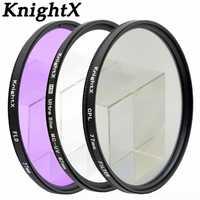 KnightX 52 55 58 67 77 mm FLD UV CPL MC MCUV Filter For Sony Pentax Nikon Canon D5200 100D EOS 400D D5300 D3300 D5500 550D 500D