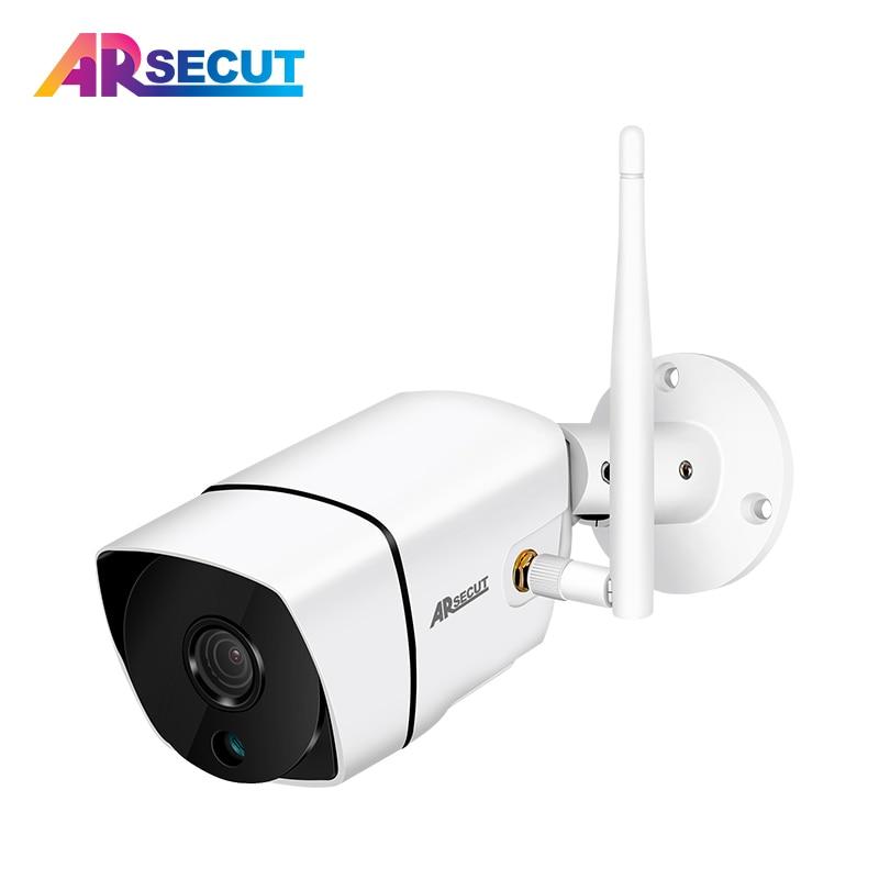 ARSECUT 2.0MP IP Camera WIFI Outdoor Waterproof 1080P HD Home Security Camera Built-in SD Card Slot Mini Baby Monitor Camera